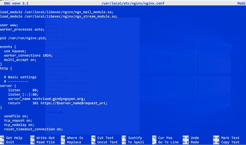 FreeNAS Nextcloud nginx.conf SSL Setup